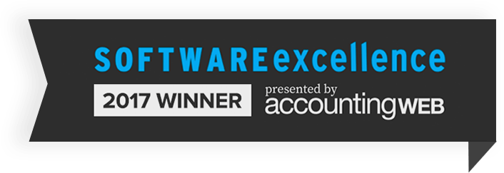 AccountingWEB Software Excellence Winner 2017