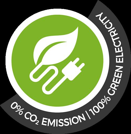 100% CO2 Emissions Free